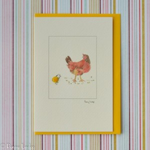 Mother Hen & Chick Card