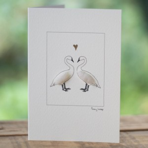 Greeting Card - Swans in Love